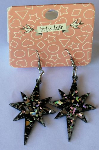morpeth antique centre hunter valley erstwilder earrings brooch necklace starburst holographic silver retro collectable pin up