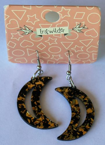morpeth antique centre hunter valley erstwilder earrings brooch necklace glitter crescent moon gold retro collectable pin up