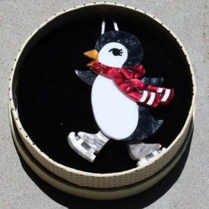 Erstwilder Brooch – Pebbles On-Ice (Penguin)