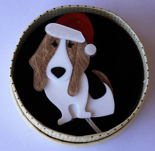 morpeth antique centre hunter valley erstwilder earrings brooch necklace barney's first Christmas dog hound blood retro collectable pin up