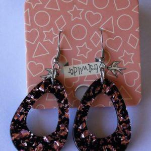 Erstwilder Drop Earrings – Teardrop Glitter Pink