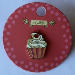 Erstwilder Enamel Pin – Charming Cupcake