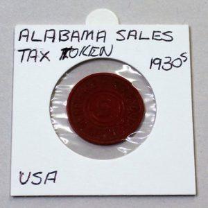 Alabama Sales Tax Token – 5
