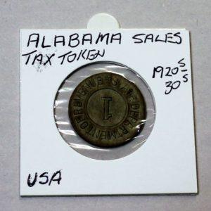 Alabama Sales Tax Token – 1