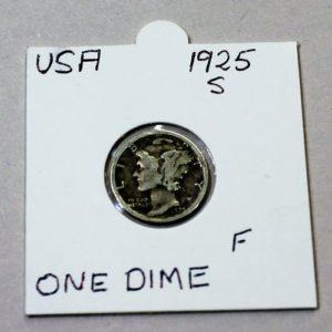 USA Mercury One Dime 1925
