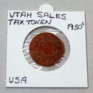 Utah Sales Tax Token – 5