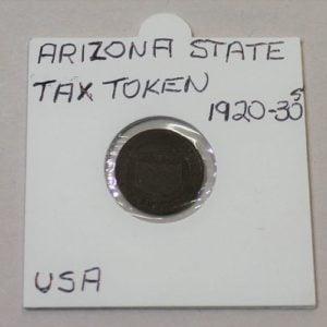 Arizona State Tax Commission Sales Tax Token