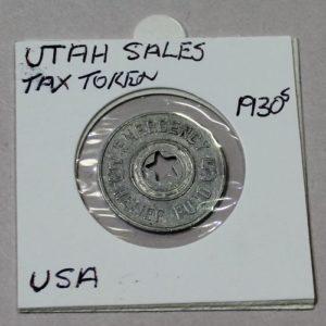 Utah Emergency Relief Fund Sales Tax Token – 5