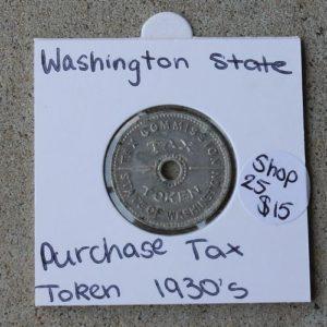 Washington State Sales Tax Token