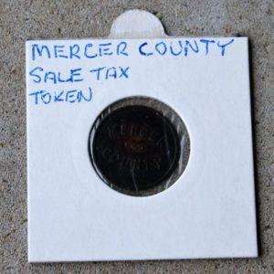 Mercer County Sales Tax Token