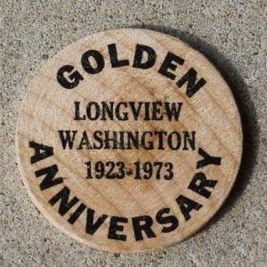 Golden Anniversary, Longview,Washington, USA Token