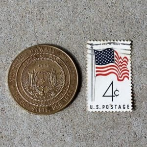 Hawaii – 50th State of USA Commemorative Token & Stamp