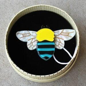 Erstwilder Brooch – To Bee or Not to Bee (Australian Native Bee)