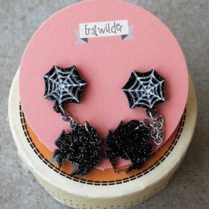 Erstwilder Earrings – Arachnid Adornments (Spider & Web)