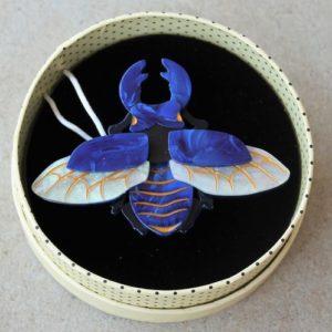 Erstwilder Brooch – Stag-Do (Beetle)
