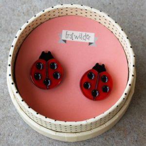 Erstwilder Earrings – Our Lady's Bird (Ladybeetle)