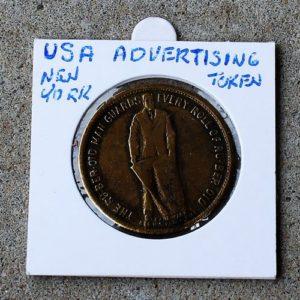 USA Advertising Token: Ru-ber-oid Roofing