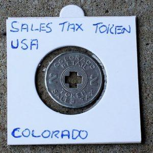 Colorado Retail Sales Tax Token 2