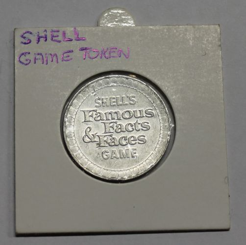 morpeth antique centre hunter valley shell's famous facts and faces game token coin