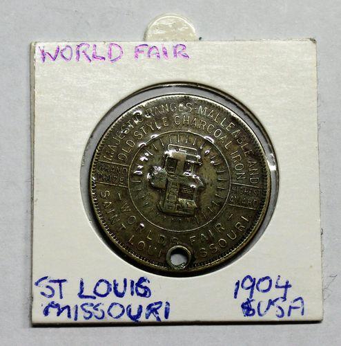 morpeth antique centre hunter valley california usa world fair st louis missouri 1904 token coin