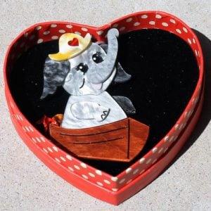 Erstwilder Brooch – Love Boat (Elephant)