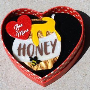 Erstwilder Brooch – Bee Mine, Honey
