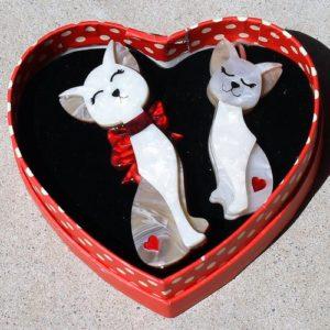 Erstwilder Double Brooch – Fur-Ever Friends (Cats)