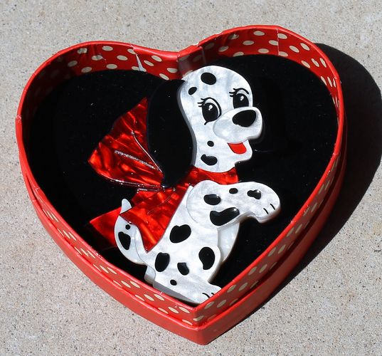 morpeth antique centre hunter valley erstwilder brooch earrings necklace one in one hundred one dalmations dogvalentines day 14th february love red roses heart gift sweet retro pinup collectable