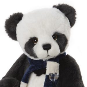 Morpeth Bears Charlie bears plush 2020 Piran panda black and white