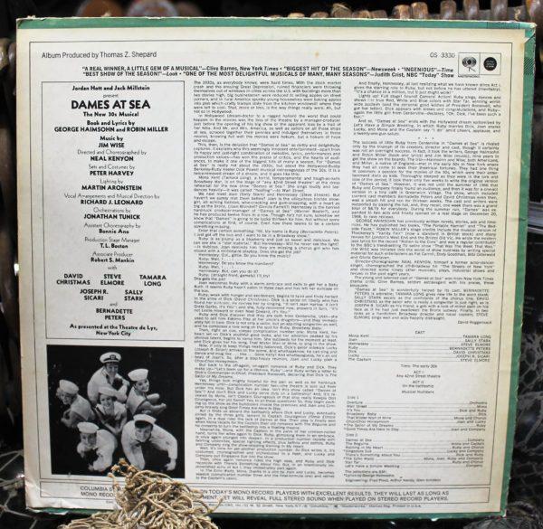 morpeth antique centre hunter valley dames at sea musical theatre production vinyl lp record fabulous artwork