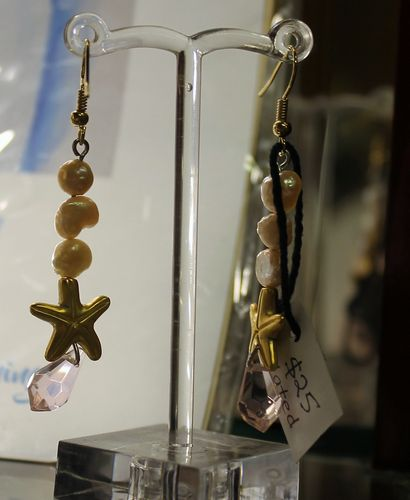 morpeth antique centre hunter valley stick and stone studio earrings drop starfish and synthetic pearl