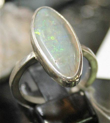 morpeth antique centre hunter valley stick and stone studio opal sterling silver ring