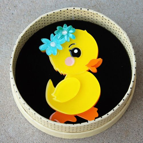 morpeth antique centre hunter valley erstwilder earrings brooch necklace waddlesworth jr. junior duck duckling spring exuberant happy easter parade farm animals retro collectable pin up