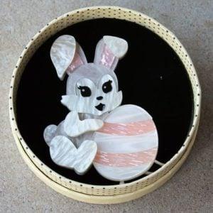 Erstwilder Brooch – Kit & Egg (Rabbit)