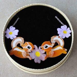 Erstwilder Necklace – Acrobatic Aromas (Chipmunks)