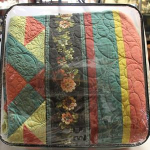 Handmade Machine Embroidered King Sized Quilt