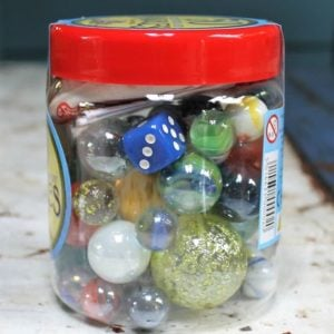 Jar of Fifty Marbles