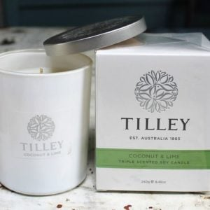 Tilley Soy Candle – Coconut & Lime