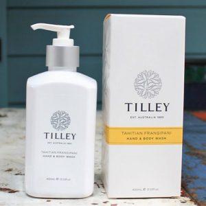 Tilley Hand & Body Wash – Tahitian Frangipani