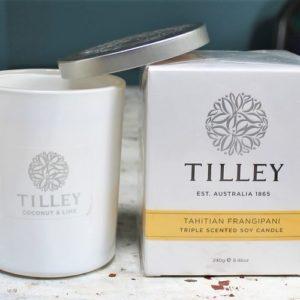 Tilley Soy Candle – Tahitian Frangipani