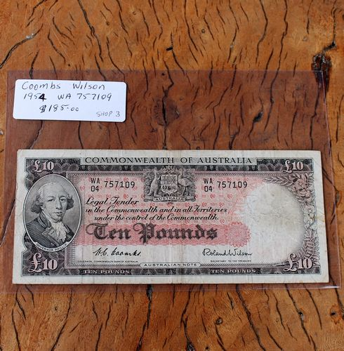morpeth antique centre hunter valley coins banknotes ten pound elizabeth II queen dollar coin currency australian decimal pre old new mint royal
