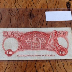 Australian Ten Pound Note 1954