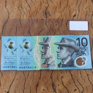 Australian First & Last Prefix Ten Dollar Note Pair