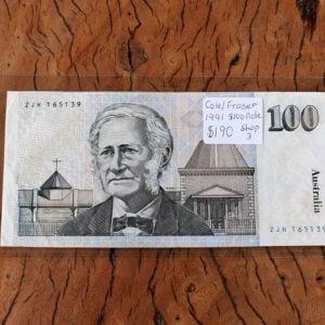 Australian One Hunder Dollar Note 1991