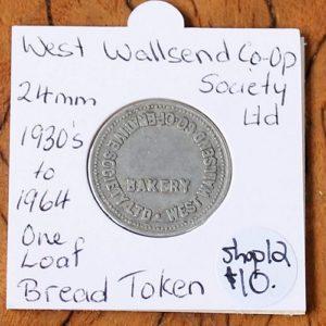 West Wallsend Co-Op Bread Token – 24mm