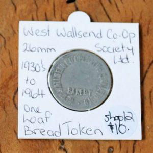 West Wallsend Co-Op Bread Token – 26mm