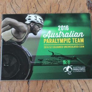 Australian Paralympic Team Two Dollar Coin