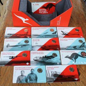 Qantas Centenary One Dollar Coin Set