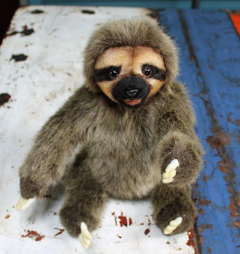 morpeth gift gallery hunter valley hansa soft cuddly plush animal farm jungle wild insect south american sloth
