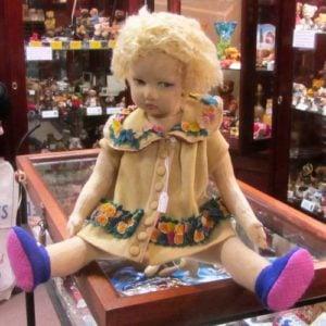 Lenci Doll with felt flower dress